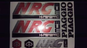 Piaggio NRG MC3 Decals / Sticker kit graphics Red/Silver/Black